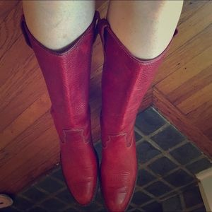 Born red knee high boots